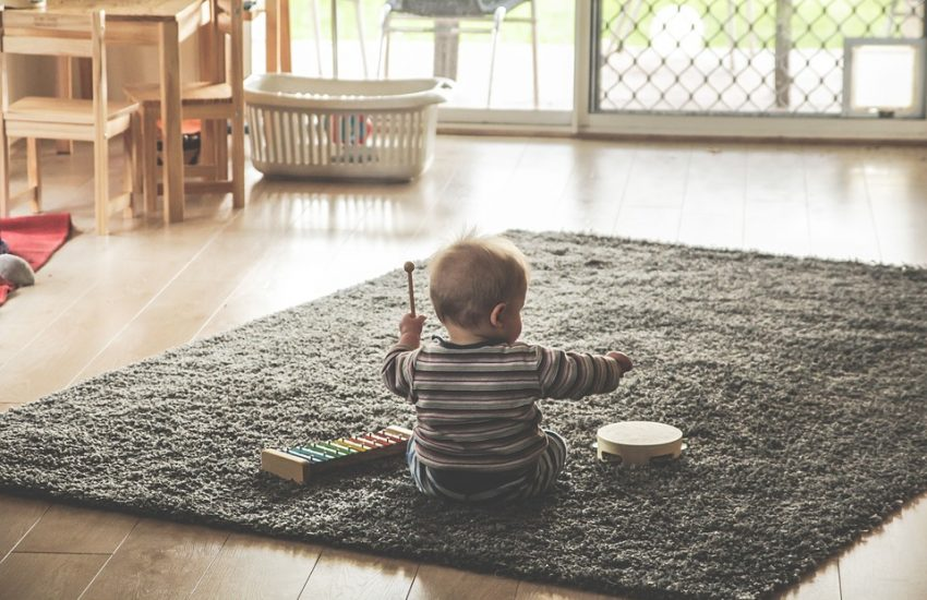 kindvriendelijke woonkamer