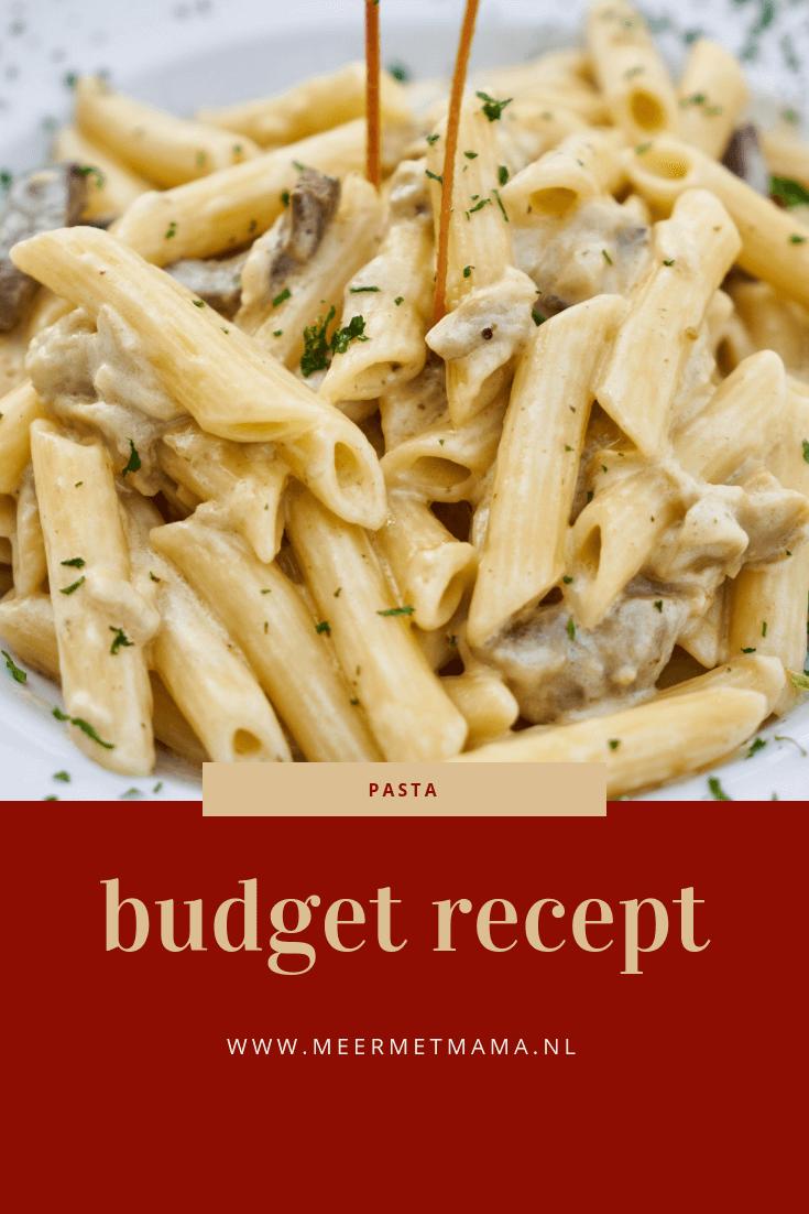budget recept pasta spinazie