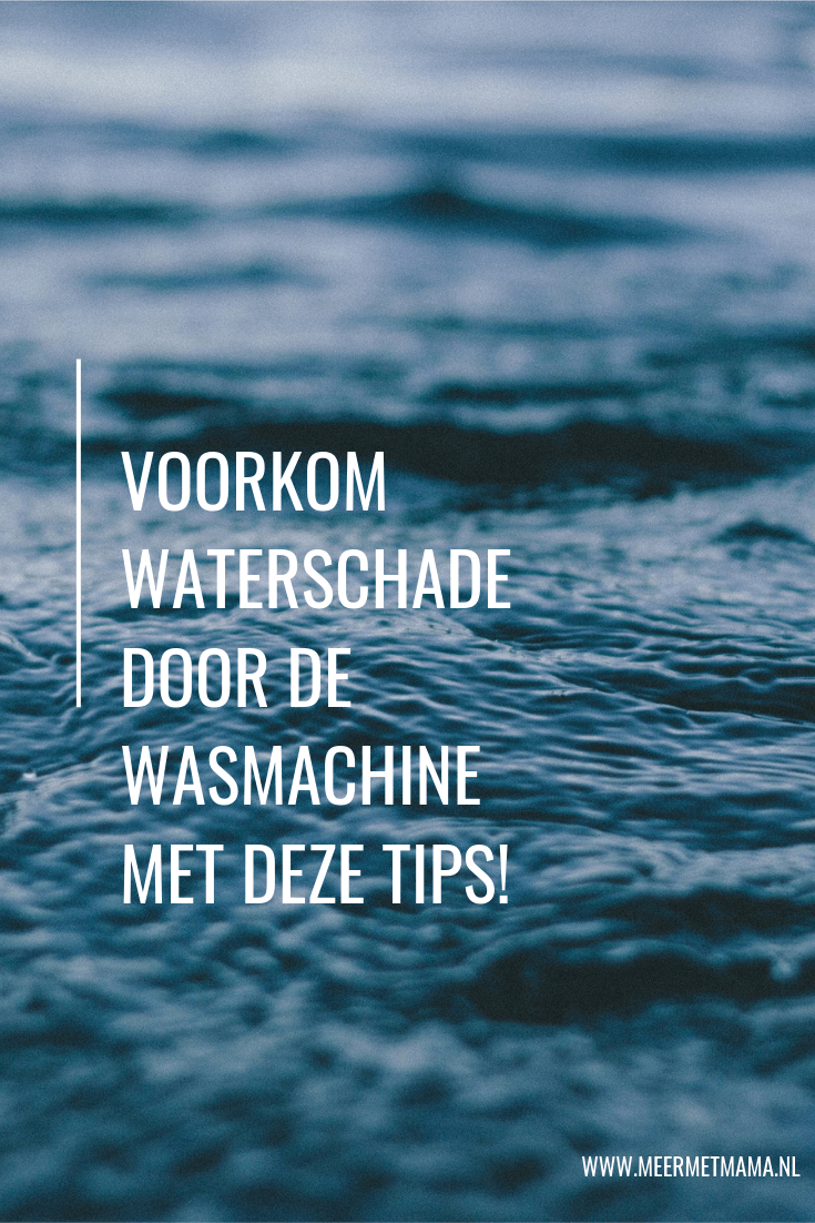 waterschade door de wasmachine